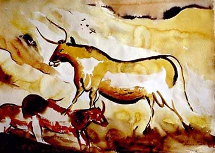 Big Bull with red Cows - Heinz Sterzenbach