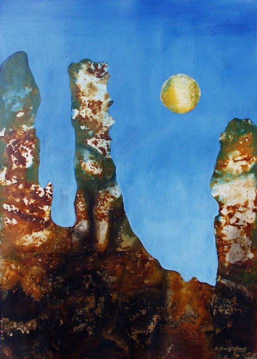 VU 109 Rock formation with merlons - Heinz Sterzenbach