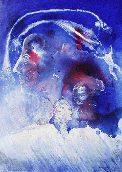 VU 137 Head in blue - Heinz Sterzenbach