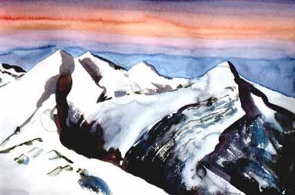 Sunrise in the Alps - Heinz Sterzenbach