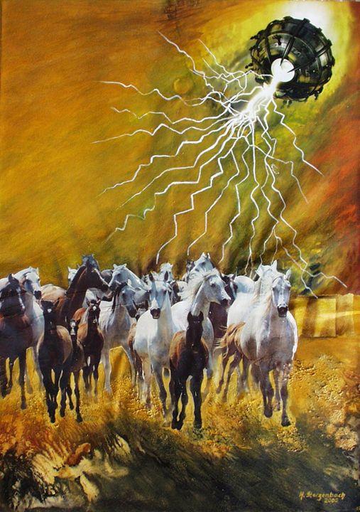 VU 17 Gallopping Horse Herd 1 - Heinz Sterzenbach