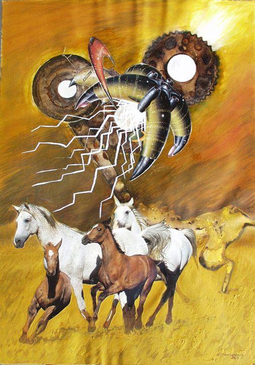 VU 18 Galopping Horse Herd 2 - Heinz Sterzenbach