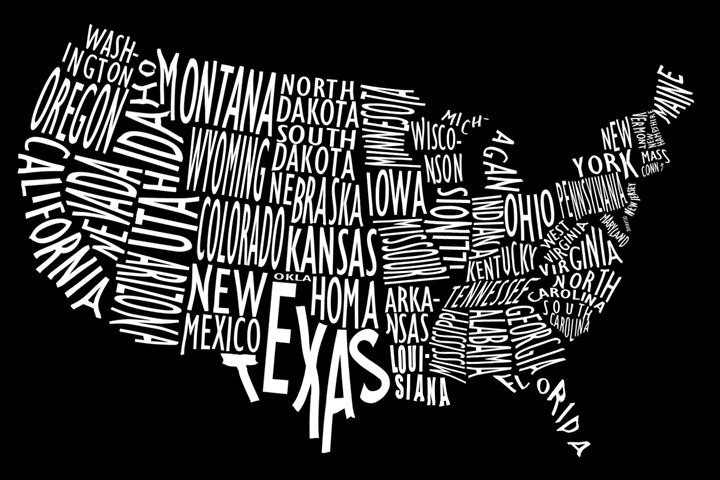 Us Map Artwork.Us Map Artwork Megan S Art Digital Art Places Travel United