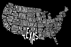 US Map Artwork