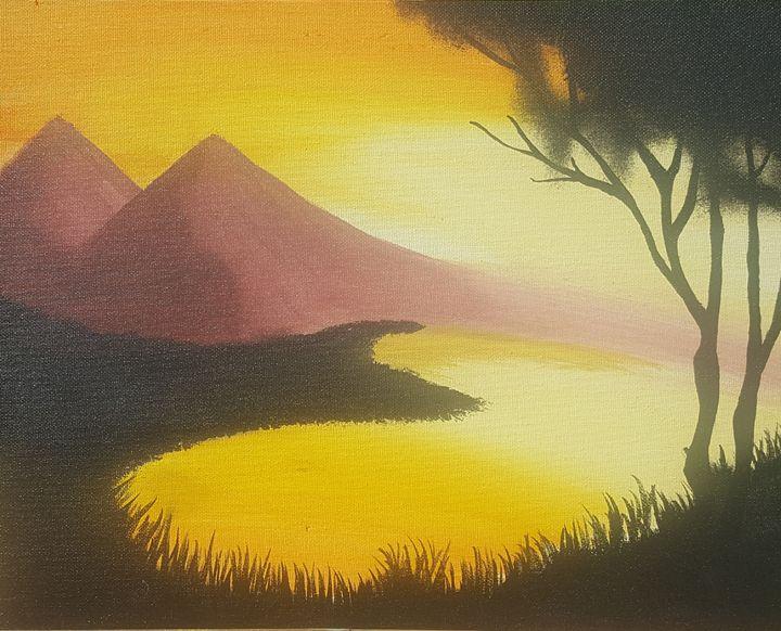 Mountain in the Sunset - Kaz