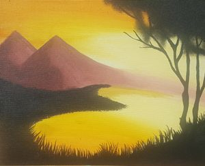 Mountain in the Sunset