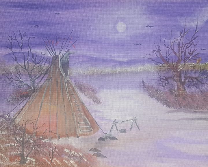 Tepee in the Snow - Kaz