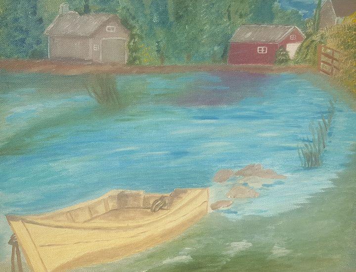 Boat in pond - Kaz