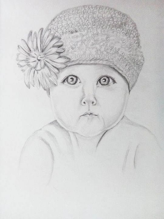A baby with flower - Ehsaas