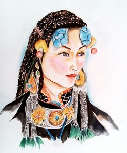 Ladakh lady(water colour)