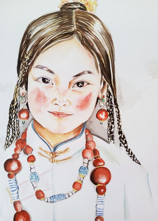 Beaded asian girl - Ehsaas