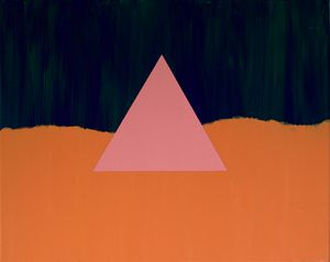 Triangle On Torn Orange Field