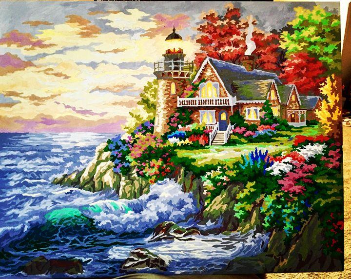 Light house near the ocean - Reality vs Fantasy