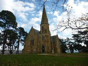 Church on a hill. Ross, Tasmania.