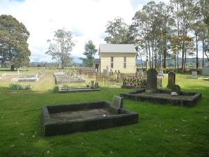 The church in the cemetery.
