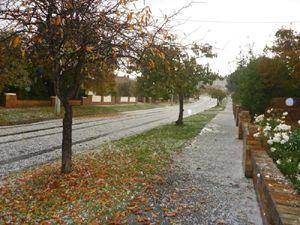 Autumn hail in Tasmania.