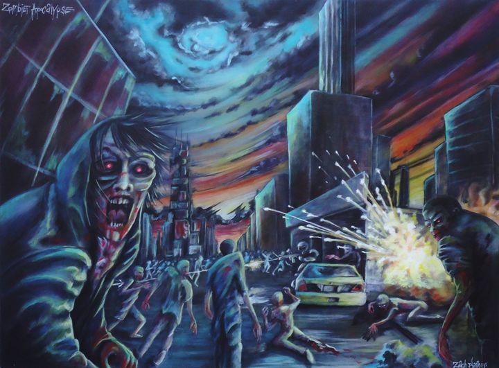 Zombie Apocalypse - Art by Kintner