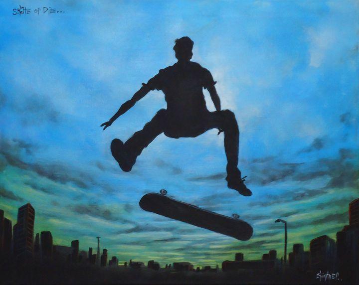 Skate or Die - Art by Kintner