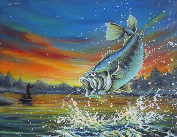 Fish Tales - Art by Kintner