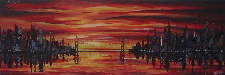 The Crimson Sky - Art by Kintner