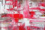 Black, white and red painting