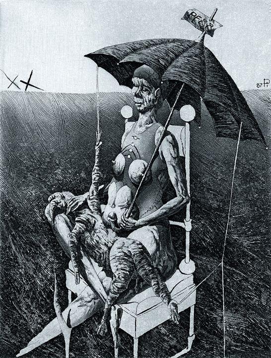 Ор.67. Lady with Umbrella - Ihor Podolchak