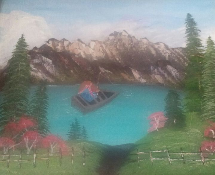 """Perfect day on the lake - """" Not so perfect Art """""""