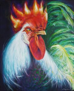 Fire Rooster Power Animal Spirit Gui