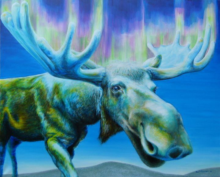 Moose Power Animal Spirit Guide - Sabine Koschier