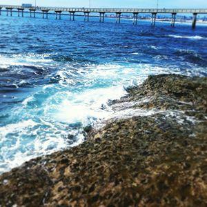 Pier on the ocean blue