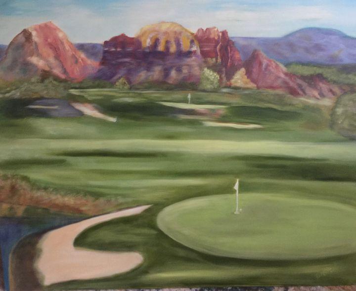 Red rock Golf - Artworks