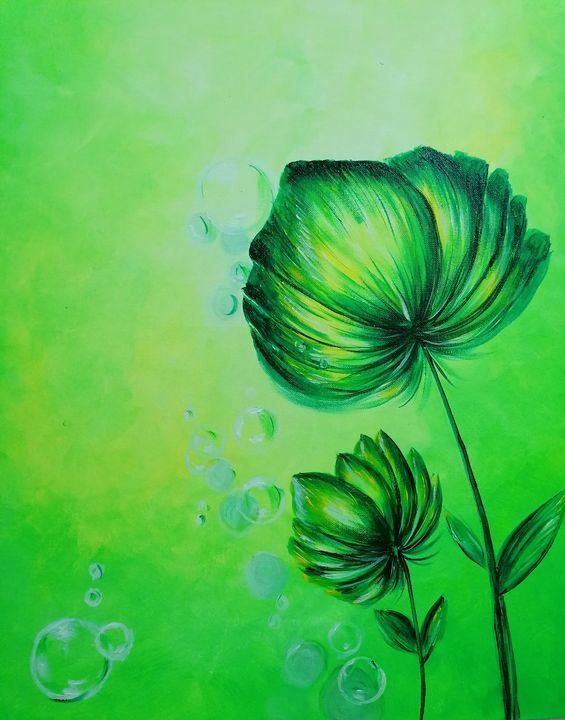 Green Flowers - Yusra Talaat