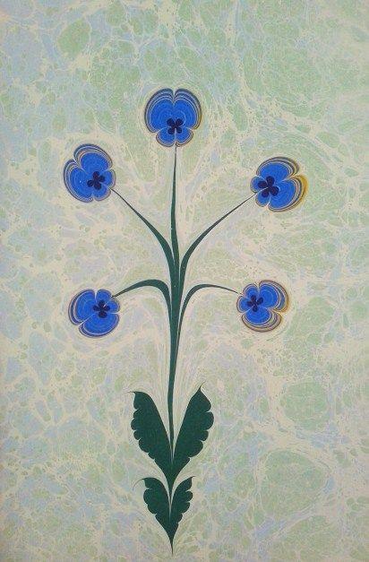 Pansies blue - Studio Ebru