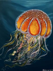 Abstract Acrylic Painting- Jellyfish