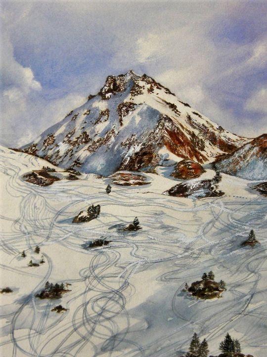 The Rothorn and ski-tracks - Gallery Ellaya