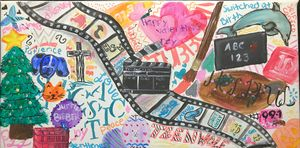 All About Me Collage Painting
