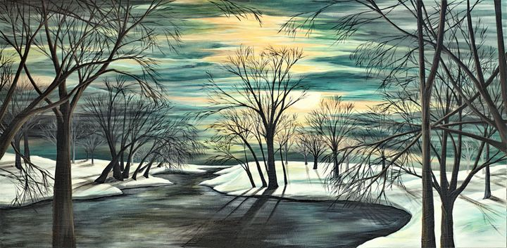 Winter pond - Rachel McClure
