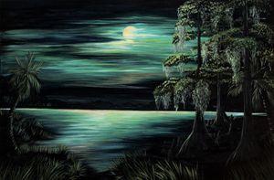 Bayou by moonlight