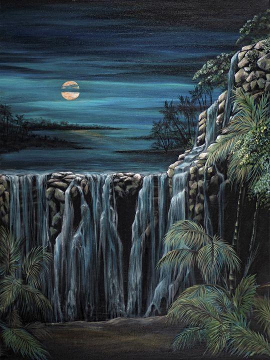 Moon over Mayan waters - Rachel McClure