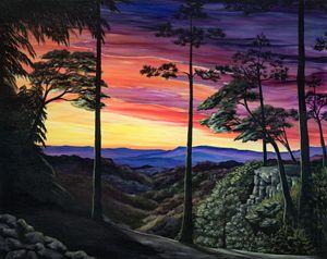 Gorge at sunset