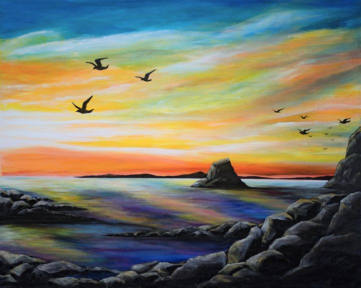 Rocky seaside sunrise - Rachel McClure
