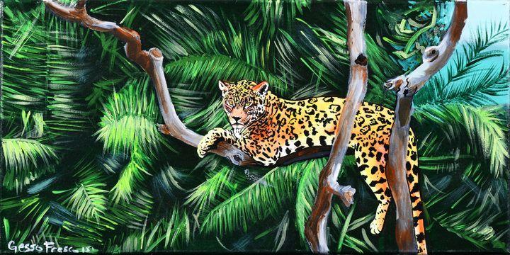 Lounging Leopard - Gesso Fresco