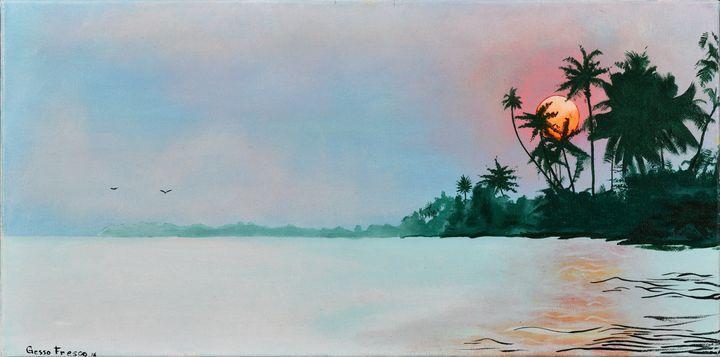Tropical Sunset - Gesso Fresco