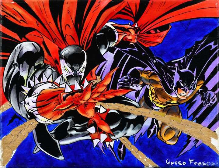 Batman & Spawn - Gesso Fresco