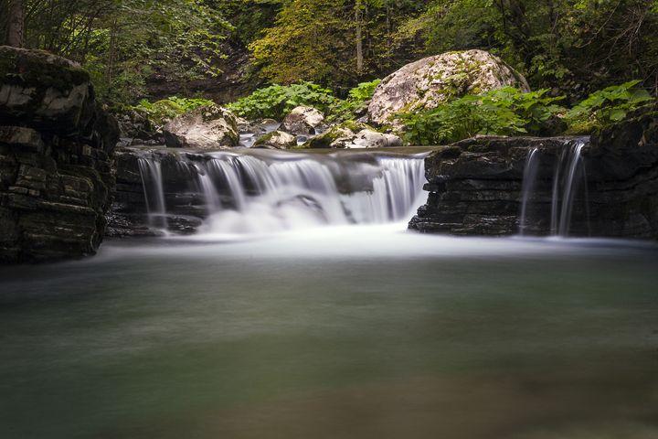 Tolminka alpine river in Slovenia, c - hakfin