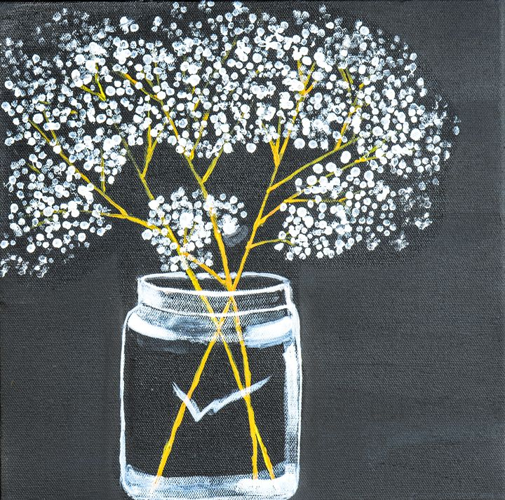 Wildflowers in Jar - Lyndall's Artwork