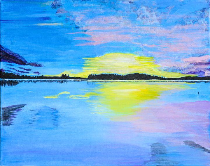 Sunset on Lake - Lyndall's Artwork