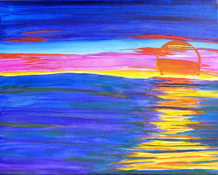 Sun Melts into Water - Lyndall's Artwork