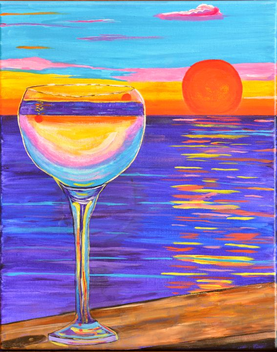 Reflections at Sunset - Lyndall's Artwork