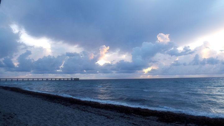 Dania Beach Pier - Black Nature